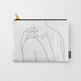 Woman's body line drawing illustration - Cathy Carry-All Pouch