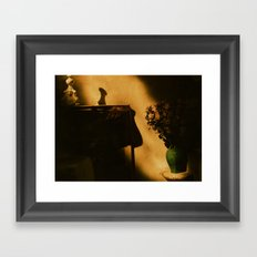 Eze golden light Framed Art Print