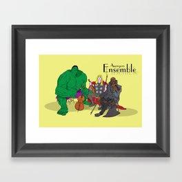 Avengers Ensemble  Framed Art Print