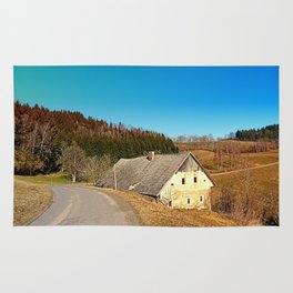 Traditional abandoned farmhouse | architectural photography Rug