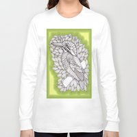 zentangle Long Sleeve T-shirts featuring Zentangle Halcyon by Vermont Greetings