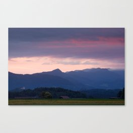 Alpine sunrise Canvas Print