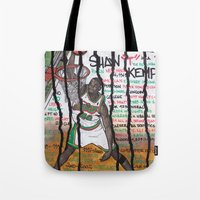 nba Tote Bags featuring NBA PLAYERS - Shawn Kemp by Ibbanez