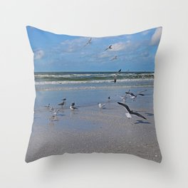 Beach Battilion Throw Pillow
