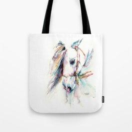Fantasy white horse Tote Bag