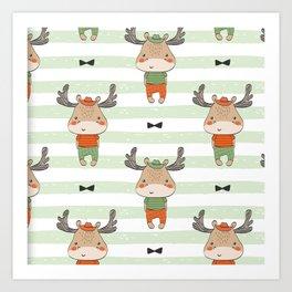 cute reindeer Art Print