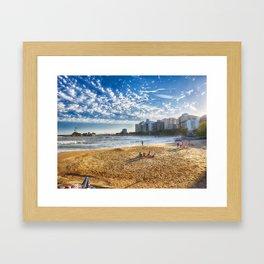 Love is like the sea Framed Art Print