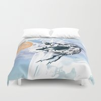 freedom Duvet Covers featuring Freedom by Cemile Pecquet