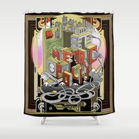 metropolis Shower Curtains featuring Metropolis  by KRNago