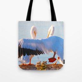 Pelican Wooing II aka Best Friends Tote Bag