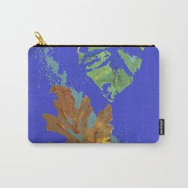 Oak Leaf on Royal Blue Painting Carry-All Pouch