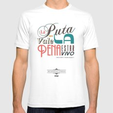 Argentina Cinema White MEDIUM Mens Fitted Tee