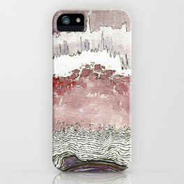 At full moon night, a fig tree flies into sky (Haiku) iPhone Case