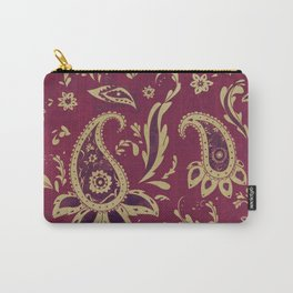 Paisley in Gold Carry-All Pouch