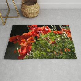 Red Poppies in France Rug