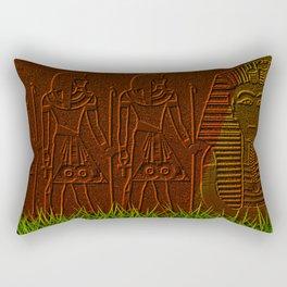Ancient egyptian graffiti ... Rectangular Pillow