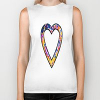 grafitti Biker Tanks featuring Heart in bright sunny colours by NatalieCatLee