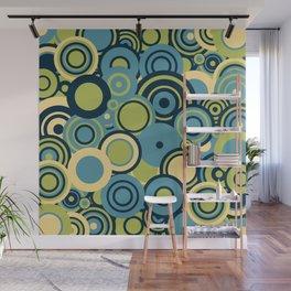 circles-blue-grn-cream Wall Mural