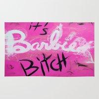 nicki Area & Throw Rugs featuring IT'S BARBIE BITCH by Jennifer Pennacchio