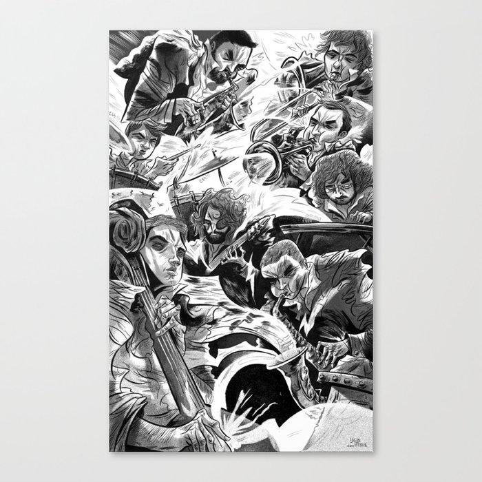"""Milkbread"" band poster Canvas Print"