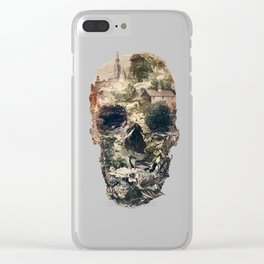 Skull Town Clear iPhone Case
