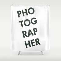 photographer Shower Curtains featuring Photographer by Rothko