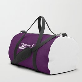 Mascara & Muscles Gym Quote Duffle Bag