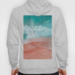 The Break - Turquoise Sea Pastel Pink Beach II Hoody