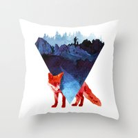 road Throw Pillows featuring Risky road by Robert Farkas