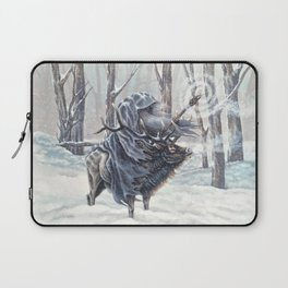 Wizard Riding an Elk in the Snow Laptop Sleeve