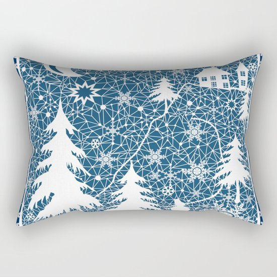 New year's design. Lace fabric . Rectangular Pillow