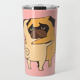 Pug Hugs Travel Mug