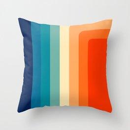 80s Vintage palette Throw Pillow