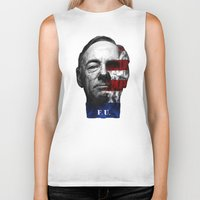 house of cards Biker Tanks featuring House of Cards by offbeatzombie
