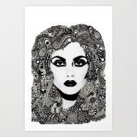 psych Art Prints featuring psych hair by Blak Hand