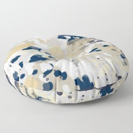 Nigel - Abstract art painting brushstrokes free spirt dorm college masculine feminine art print cali Floor Pillow