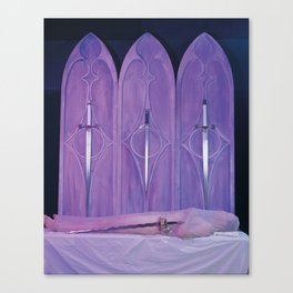4 of Swords Canvas Print