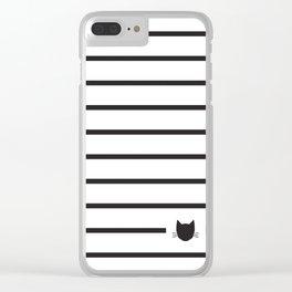Classic Stripes 03 Clear iPhone Case