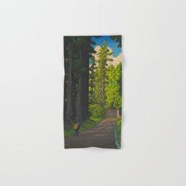 Vintage Japanese Woodblock Print Kawase Hasui Mystical Japanese forest Tall Green Trees Hand & Bath Towel