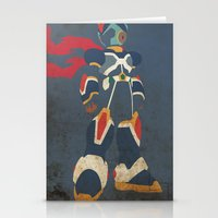 megaman Stationery Cards featuring Megaman X by JHTY