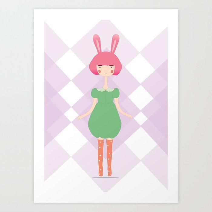 the bunny Art Print