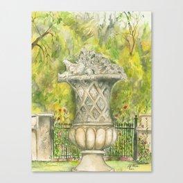 Sculpture In the Garden Canvas Print