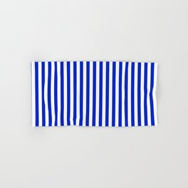 Cobalt Blue and White Vertical Deck Chair Stripe Hand & Bath Towel