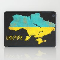ukraine iPad Cases featuring Ukraine Vintage Map by Finlay McNevin