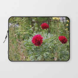 Red Peonies in Bloom Laptop Sleeve