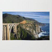 big sur Area & Throw Rugs featuring Big Sur by Brie Anne Demkiw