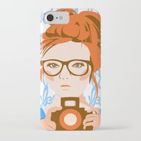 photographer iPhone & iPod Cases featuring Photographer by KylaArt