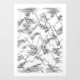 The lakes Art Print