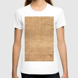 Brown burlap cloth background or sack cloth T-shirt