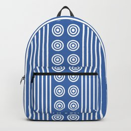 Blue Stripes & Circles Backpack